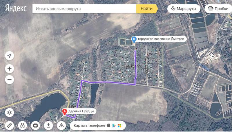 карта для рыбалки в дмитровском районе